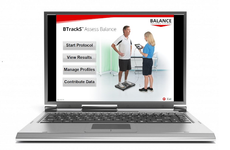 BTrackS Software running on Laptop