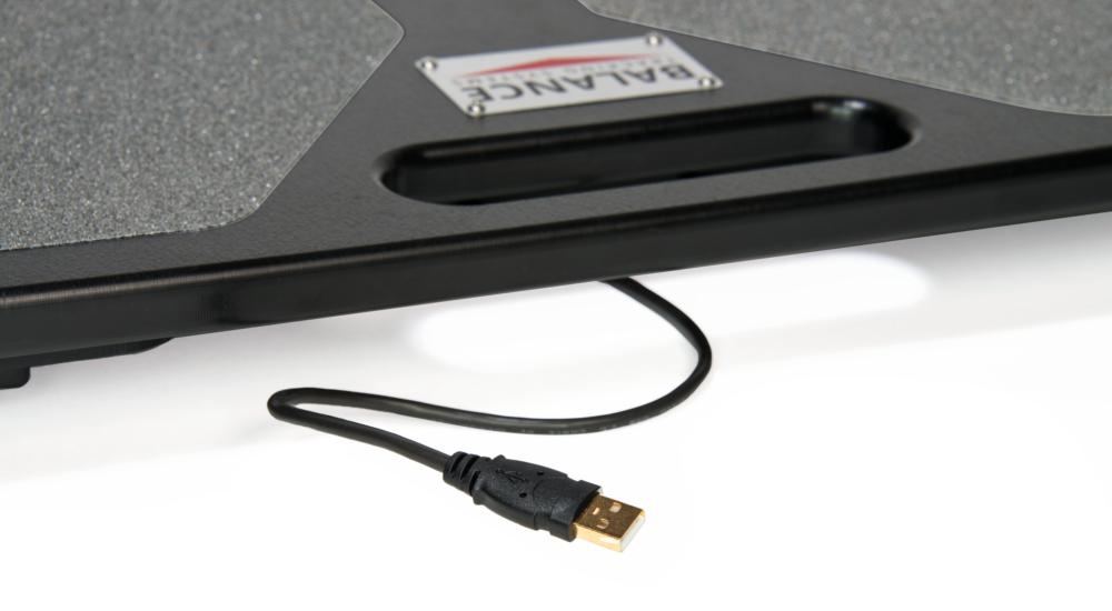 BTrackS Balance Plate USB connection