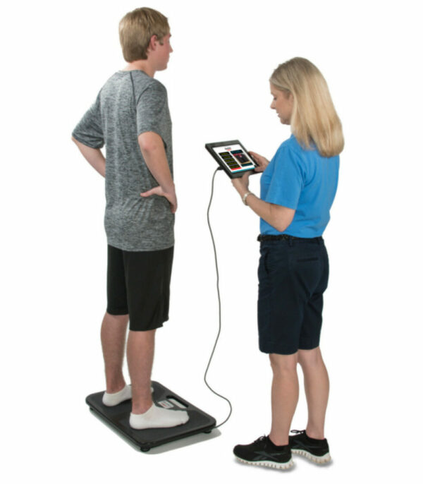 Athlete being tested on BTrackS