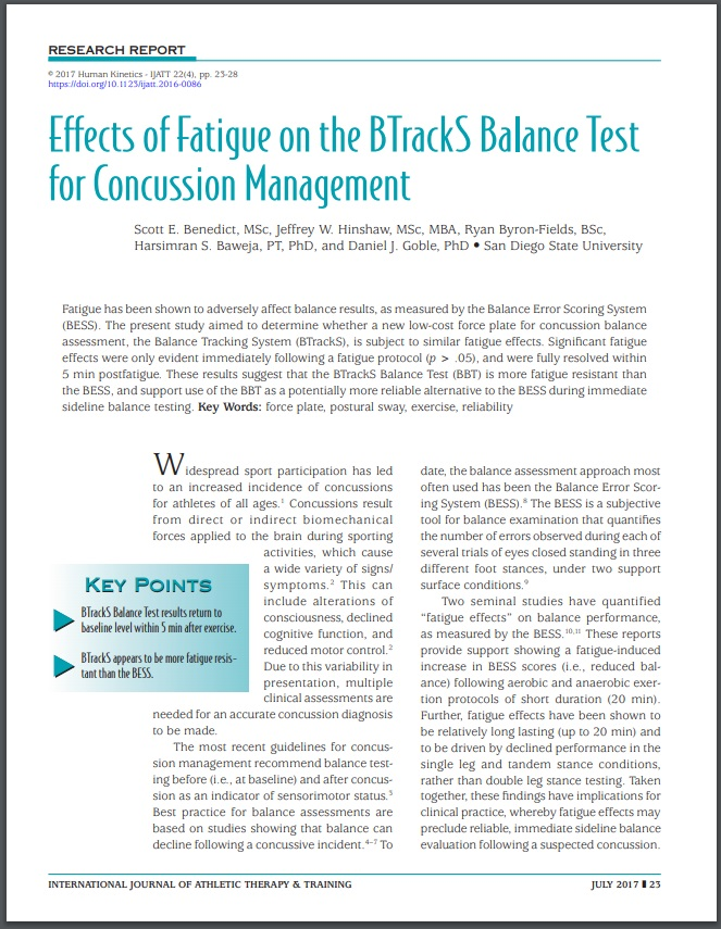 Minimal Effects of Fatigue Study